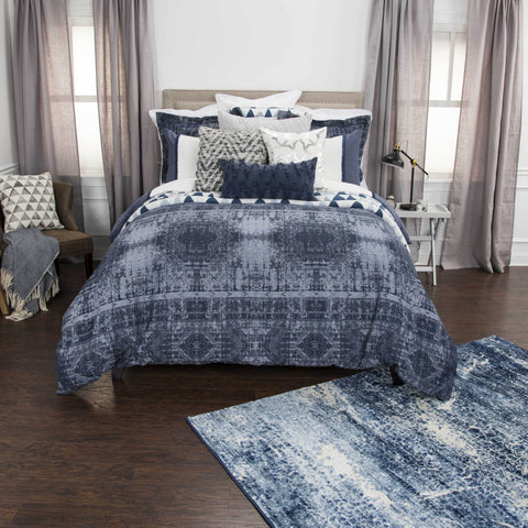 Rizzy BT4467 Winston Willow Indigo Bedding main image