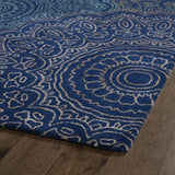 Kaleen Divine DIV03-22 Navy Area Rug Close-up Shot Feature