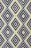 KAS Home Escape 7908 Ivory/Blue Dimensions Hand Woven Area Rug by Donny Osmond