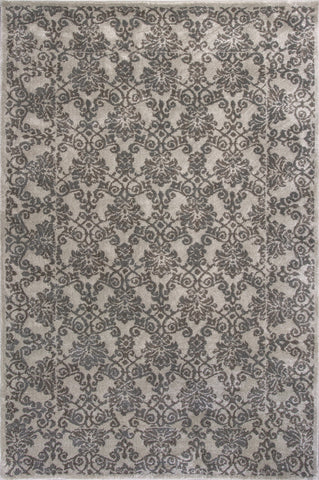 KAS Home Timeless 8001 Silver Tranquility Machine Woven Area Rug by Donny Osmond