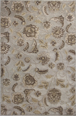 KAS Home Timeless 8002 Silver Charisma Machine Woven Area Rug by Donny Osmond
