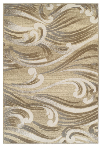 KAS Home Timeless 8007 Natural Srolls Area Rug by Donny Osmond main image