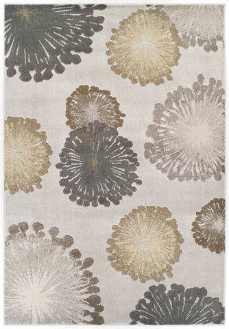 KAS Home Timeless 8009 Silver Starburst Area Rug by Donny Osmond main image