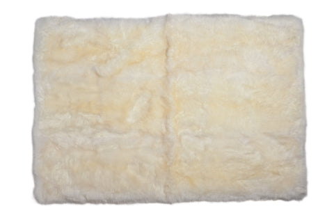 Auskin Luxury Skins Long Wool Sheepskin Ivory Animal Hide Area Rug