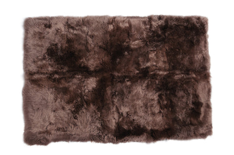Auskin Luxury Skins Long Wool Sheepskin Taupe Animal Hide Area Rug