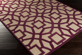 Surya Dream DST-1171 Magenta Hand Tufted Area Rug 5x8 Corner