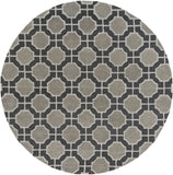 Surya Dream DST-1185 Black Area Rug 8' Round