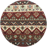 Surya Dream DST-381 Burgundy Area Rug 8' Round