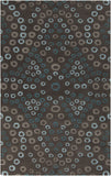 Surya Destinations DTN-54 Charcoal Area Rug by Malene B 5' x 8'