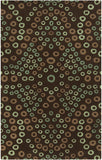Surya Destinations DTN-55 Chocolate Area Rug by Malene B 5' x 8'