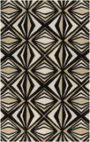Surya Destinations DTN-65 Black Hand Tufted Area Rug by Malene B 5' X 8'
