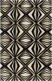 Surya Destinations DTN-65 Black Area Rug by Malene B main image