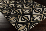 Surya Destinations DTN-65 Black Hand Tufted Area Rug by Malene B 5x8 Corner