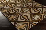 Surya Destinations DTN-66 Chocolate Hand Tufted Area Rug by Malene B 5x8 Corner