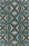 Surya Destinations DTN-67 Teal Area Rug by Malene B 5' x 8'