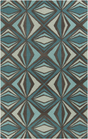 Surya Destinations DTN-67 Teal Area Rug by Malene B main image