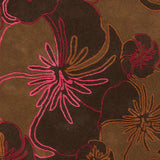 Surya Destinations DTN-69 Rust Hand Tufted Area Rug by Malene B Sample Swatch