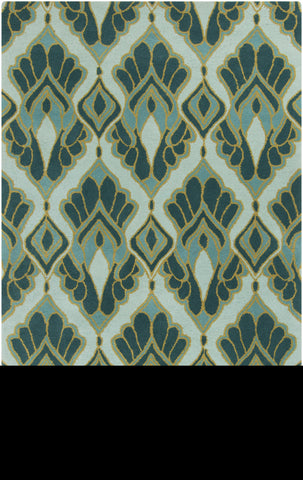 Surya Destinations DTN-73 Teal Area Rug by Malene B main image
