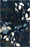 Surya Destinations DTN-75 Navy Area Rug by Malene B 5' x 8'