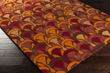 Surya Destinations DTN-77 Cherry Hand Tufted Area Rug by Malene B 5x8 Corner