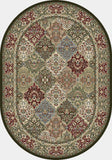 Dynamic Rugs Ancient Garden 57008 Multi Area Rug Oval Shot