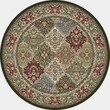 Dynamic Rugs Ancient Garden 57008 Multi Area Rug Round Shot