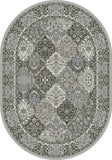 Dynamic Rugs Ancient Garden 57008 Cream/Grey Area Rug Oval Shot