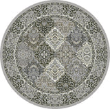 Dynamic Rugs Ancient Garden 57008 Cream/Grey Area Rug Round Shot