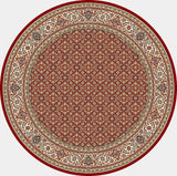 Dynamic Rugs Ancient Garden 57011 Red/Ivory Area Rug Round Shot