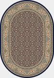 Dynamic Rugs Ancient Garden 57011 Navy Area Rug Oval Shot
