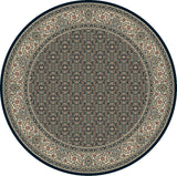 Dynamic Rugs Ancient Garden 57011 Navy Area Rug Round Shot