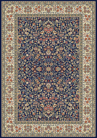 Dynamic Rugs Ancient Garden 57078 Blue/Ivory Area Rug main image
