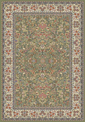 Dynamic Rugs Ancient Garden 57078 Green/Ivory Area Rug main image