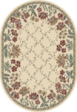 Dynamic Rugs Ancient Garden 57084 Ivory Area Rug Oval Shot