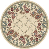 Dynamic Rugs Ancient Garden 57084 Ivory Area Rug Round Shot