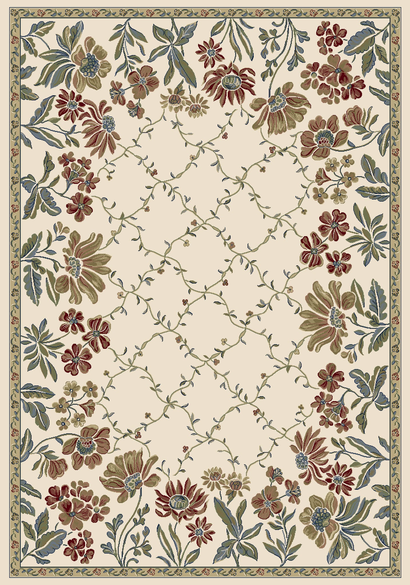 Dynamic Rugs Ancient Garden 57084 Ivory Area Rug main image