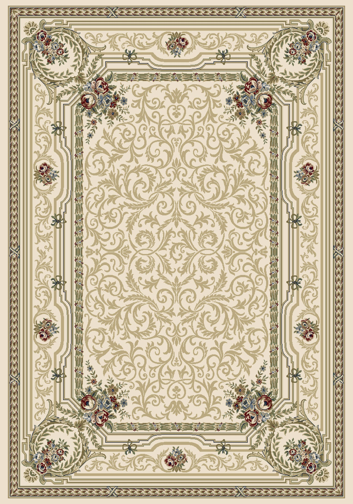 Dynamic Rugs Ancient Garden 57091 Ivory Area Rug main image