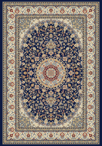 Dynamic Rugs Ancient Garden 57119 Blue/Ivory Area Rug main image