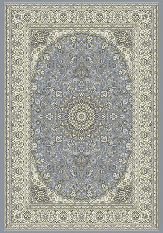 Dynamic Rugs Ancient Garden 57119 Steel Blue/Cream Area Rug main image