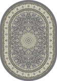 Dynamic Rugs Ancient Garden 57119 Grey/Cream Area Rug Oval Shot
