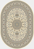 Dynamic Rugs Ancient Garden 57119 Ivory Area Rug Oval Shot