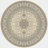 Dynamic Rugs Ancient Garden 57119 Ivory Area Rug Round Shot