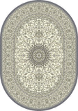 Dynamic Rugs Ancient Garden 57119 Cream/Grey Area Rug Oval Shot