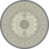 Dynamic Rugs Ancient Garden 57119 Cream/Grey Area Rug Round Shot