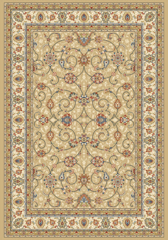 Dynamic Rugs Ancient Garden 57120 Light Gold/Ivory Area Rug main image
