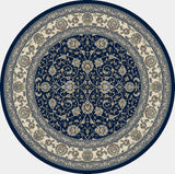 Dynamic Rugs Ancient Garden 57120 Blue/Ivory Area Rug Round Shot