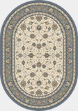 Dynamic Rugs Ancient Garden 57120 Ivory/Light Blue Area Rug Oval Shot