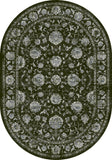 Dynamic Rugs Ancient Garden 57126 Charcoal/Silver Area Rug Oval Shot