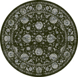 Dynamic Rugs Ancient Garden 57126 Charcoal/Silver Area Rug Round Shot