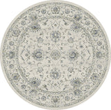 Dynamic Rugs Ancient Garden 57126 Cream Area Rug Round Shot